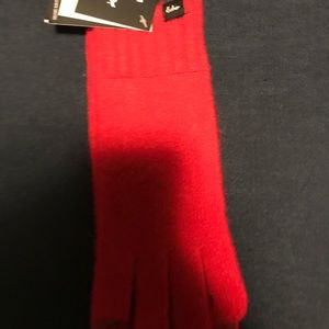 NWT Echo red cashmere gloves with phone touch